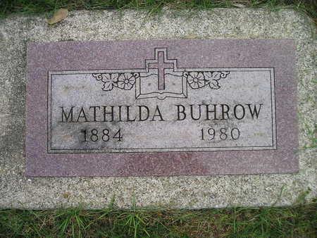BUHROW, MATHILDA - Bremer County, Iowa | MATHILDA BUHROW