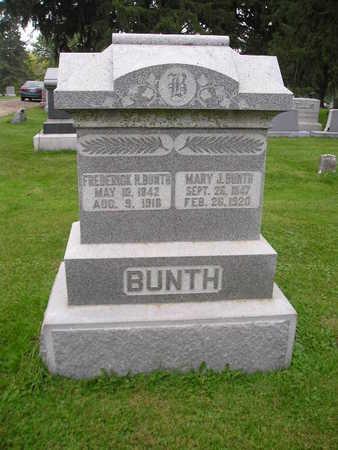 BUNTH, MARY J - Bremer County, Iowa | MARY J BUNTH
