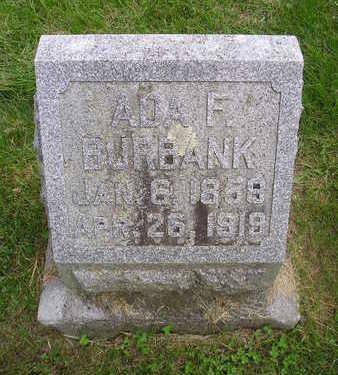 BURBANK, ADA F. - Bremer County, Iowa | ADA F. BURBANK