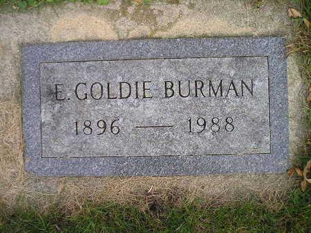 BURMAN, E GOLDIE - Bremer County, Iowa   E GOLDIE BURMAN