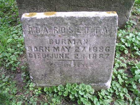 BURMAN, IDA ROSETTA - Bremer County, Iowa   IDA ROSETTA BURMAN