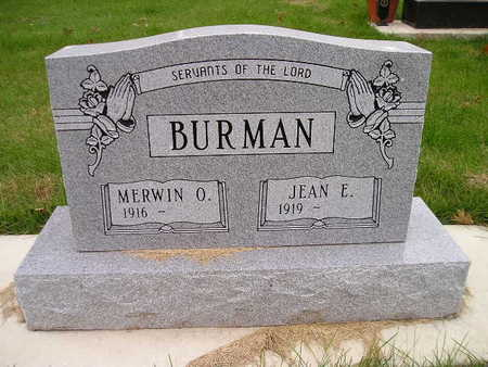 BURMAN, JEAN E - Bremer County, Iowa | JEAN E BURMAN