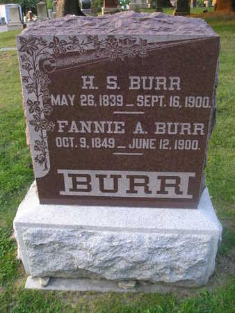 BURR, FANNIE A - Bremer County, Iowa | FANNIE A BURR
