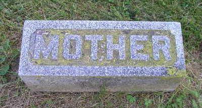 BURRINGTON, MOTHER (HANNAH) - Bremer County, Iowa   MOTHER (HANNAH) BURRINGTON