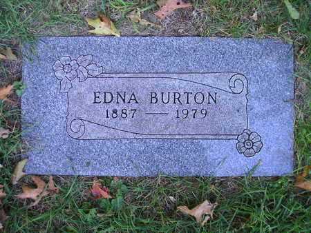 BURTON, EDNA - Bremer County, Iowa   EDNA BURTON