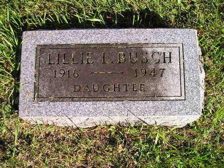 BUSCH, LILLIE I - Bremer County, Iowa   LILLIE I BUSCH
