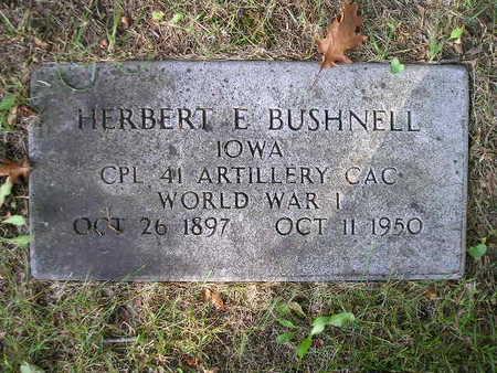 BUSHNELL, HERBERT E - Bremer County, Iowa   HERBERT E BUSHNELL
