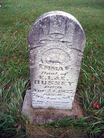 BUSSEY, EMMA F - Bremer County, Iowa   EMMA F BUSSEY