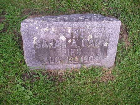 CADY, SARAH - Bremer County, Iowa   SARAH CADY