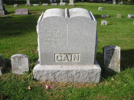 CAIN, ELIZABETH - Bremer County, Iowa | ELIZABETH CAIN