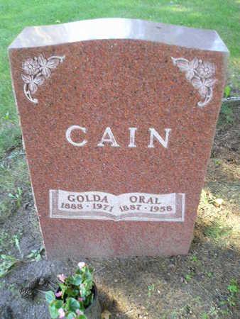 CAIN, ORAL - Bremer County, Iowa | ORAL CAIN
