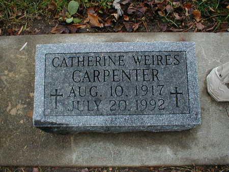 CARPENTER, CATHERINE - Bremer County, Iowa   CATHERINE CARPENTER