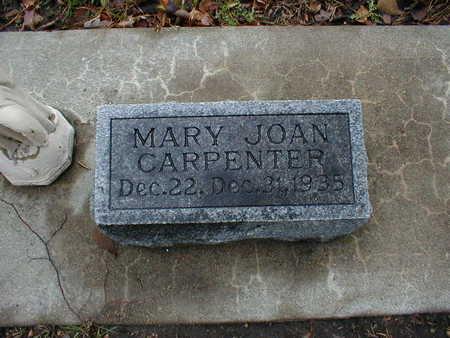 CARPENTER, MARY JOAN - Bremer County, Iowa | MARY JOAN CARPENTER