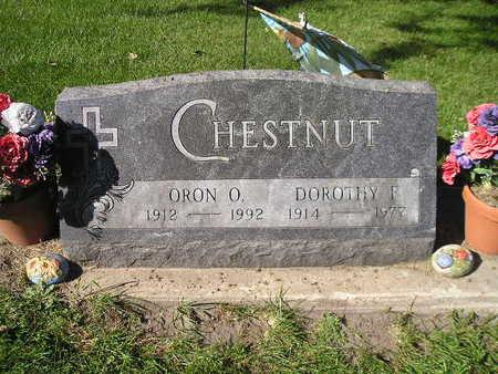 CHESTNUT, ORON O - Bremer County, Iowa   ORON O CHESTNUT