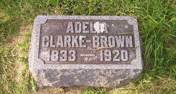 BROWN CLARKE, ADELIA - Bremer County, Iowa | ADELIA BROWN CLARKE