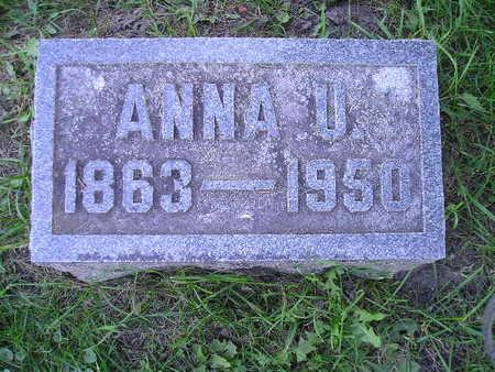 COLBURN, ANNA U - Bremer County, Iowa   ANNA U COLBURN