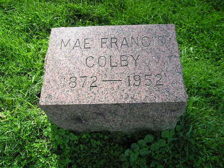 COLBY, MAE FRANCIS - Bremer County, Iowa | MAE FRANCIS COLBY