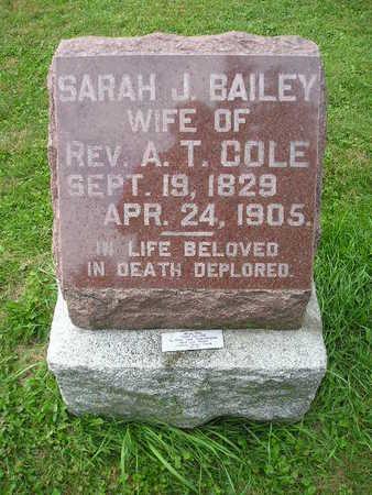 COLE, SARAH J - Bremer County, Iowa | SARAH J COLE