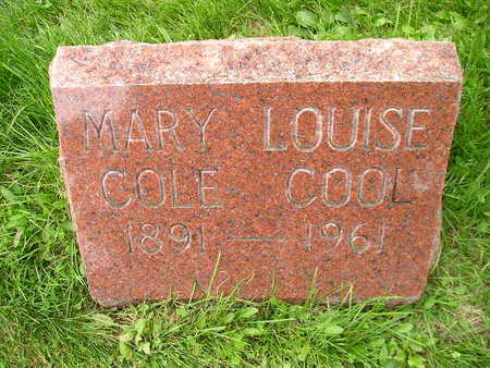 COLE COOL, MARY LOUISE - Bremer County, Iowa | MARY LOUISE COLE COOL