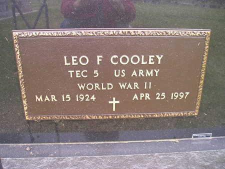 COOLEY, LEO F - Bremer County, Iowa | LEO F COOLEY