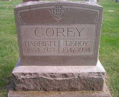 COREY, HARRIETT - Bremer County, Iowa | HARRIETT COREY