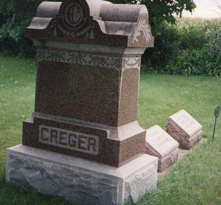 CREGER, FRIEDERICKA - Bremer County, Iowa   FRIEDERICKA CREGER