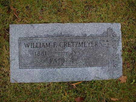 CRETZMEYER, WILLIAM F - Bremer County, Iowa   WILLIAM F CRETZMEYER