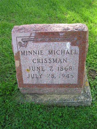 CRISSMAN, MINNIE - Bremer County, Iowa | MINNIE CRISSMAN