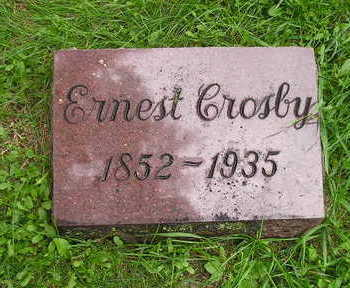 CROSBY, ERNEST - Bremer County, Iowa   ERNEST CROSBY