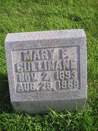 CULLINANE, MARY F - Bremer County, Iowa   MARY F CULLINANE