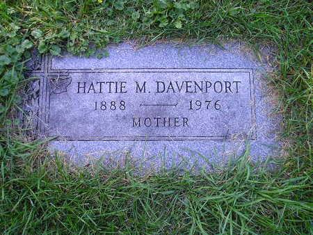 DAVENPORT, HATTIE M - Bremer County, Iowa | HATTIE M DAVENPORT