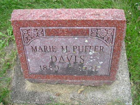 PUFFER DAVIS, MARIE M - Bremer County, Iowa | MARIE M PUFFER DAVIS