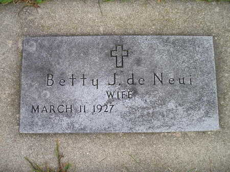 DE NEUI, BETTY J - Bremer County, Iowa | BETTY J DE NEUI