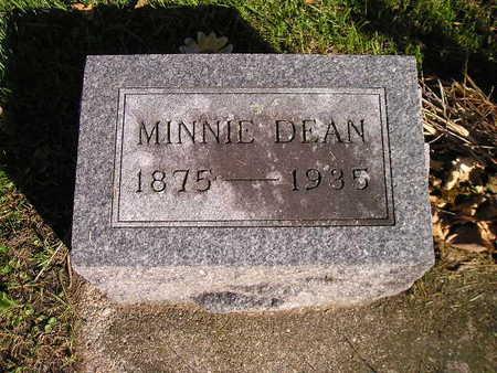 DEAN, MINNIE - Bremer County, Iowa   MINNIE DEAN