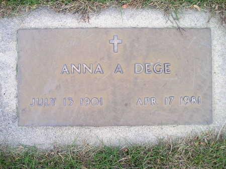 DEGE, ANNA A - Bremer County, Iowa | ANNA A DEGE