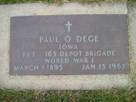 DEGE, PAUL O - Bremer County, Iowa | PAUL O DEGE