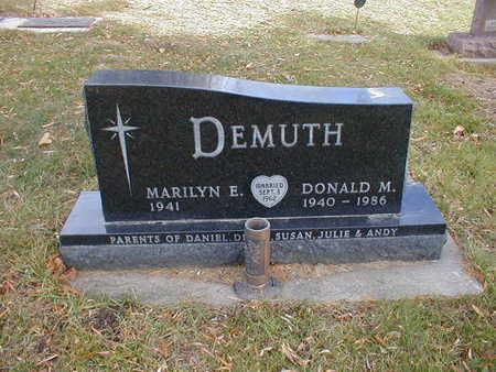 DEMUTH, DONALD M - Bremer County, Iowa   DONALD M DEMUTH