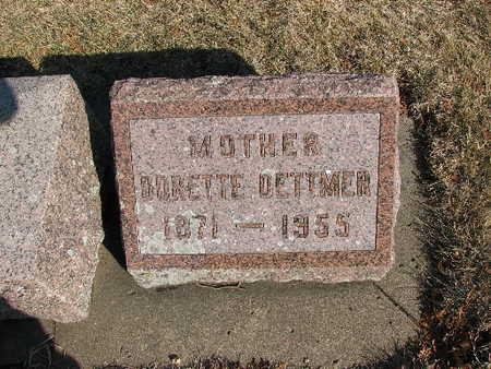 DETTMER, DORETTE - Bremer County, Iowa | DORETTE DETTMER