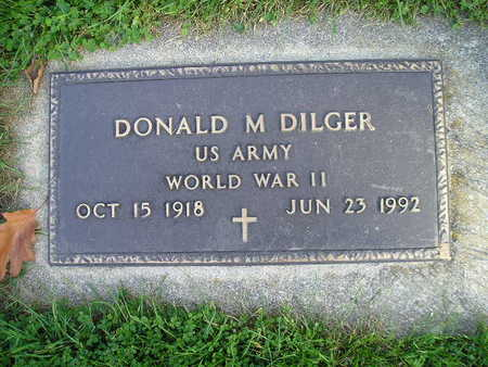 DILGER, DONALD M - Bremer County, Iowa   DONALD M DILGER