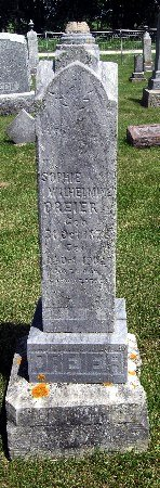 DREIER, SOPHIE WILHELMINE - Bremer County, Iowa | SOPHIE WILHELMINE DREIER