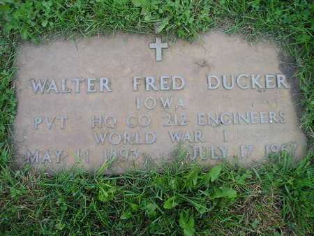 DUCKER, WALTER FRED - Bremer County, Iowa   WALTER FRED DUCKER