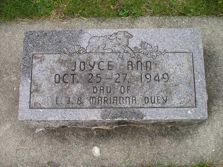 DUEY, JOYCE ANN - Bremer County, Iowa   JOYCE ANN DUEY