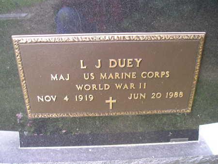 DUEY, L J - Bremer County, Iowa | L J DUEY