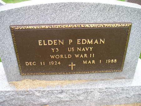 EDMAN, ELDEN P - Bremer County, Iowa   ELDEN P EDMAN