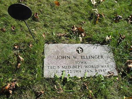 ELLINGER, JOHN W - Bremer County, Iowa   JOHN W ELLINGER