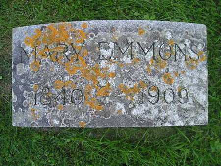 EMMONS, MARY - Bremer County, Iowa   MARY EMMONS