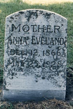 EVELAND, ANNA - Bremer County, Iowa | ANNA EVELAND