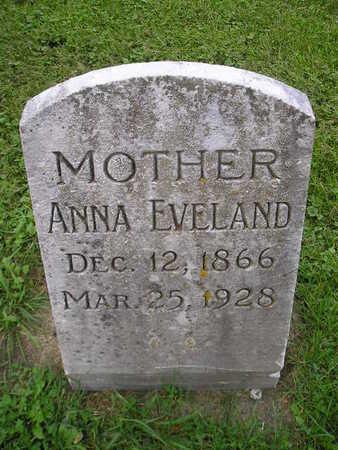 EVELAND, ANNA - Bremer County, Iowa   ANNA EVELAND