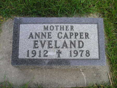 CAPPER EVELAND, ANNE - Bremer County, Iowa | ANNE CAPPER EVELAND