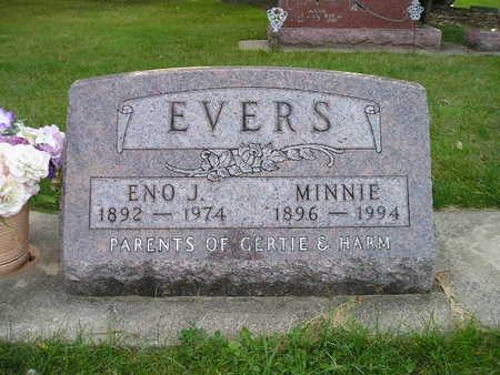 EVERS, MINNIE - Bremer County, Iowa   MINNIE EVERS